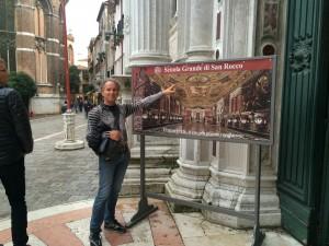 """ירון מרגולין בפתח ה""""סקולה סאן גרנדה"""" בונציה. אוסף יוצא דופן של יצירות טינטורטו - נובמבר 2014"""