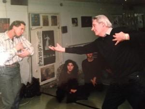 Nicu Horodniceanu and Yaron Margolin at Margolin's Dance in Jerusalem