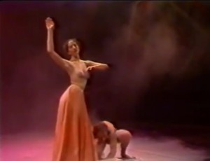 Yonat Daleski in Yaron Margolin's famous Dance ׳Curssed Women' inspired by Charles Baudelaire poems from Les Fleurs du mal (1857)